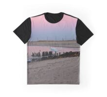 Atlantic Ocean's Beach At Pink Dawn | Hampton Bays, New York Graphic T-Shirt
