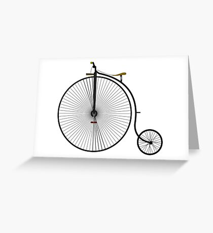 Old Victorian Penny Farthing graphic art Greeting Card