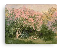 Lilac  Flowers -  Claude Monet - Lilac In The Sun 1873 Impressionism Canvas Print