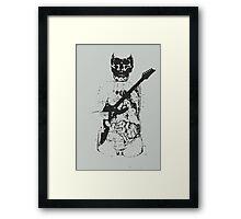 Transparent Guitarist Framed Print