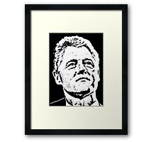 BILL CLINTON Framed Print