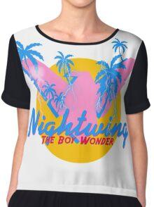 NightWing The Boy Wonder 80s Logo Chiffon Top