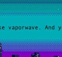 vaporwave Sticker
