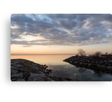 Reflecting on Quiet, Peaceful Mornings Canvas Print
