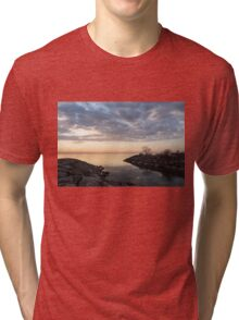 Reflecting on Quiet, Peaceful Mornings Tri-blend T-Shirt