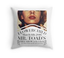 Flower child Live  Throw Pillow