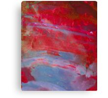 Sunset, Fire Opal, Abstract colourful stone art Canvas Print