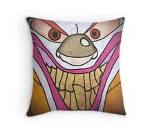 Colossal Is Crazy // Clown Throw Pillow