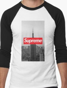 Supreme New York  Men's Baseball ¾ T-Shirt
