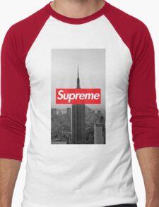 Supreme New York  Men's Baseball ¾ T-Shirt