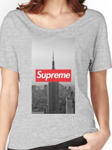 Supreme New York  Women's Relaxed Fit T-Shirt