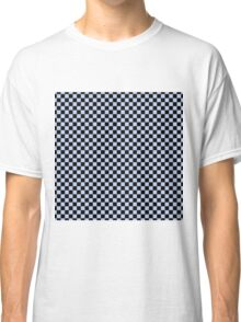 Alice Blue and Black Classic Checkerboard Repeating Pattern Classic T-Shirt