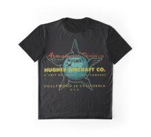 Hughes Aircraft Hollywood California Vintage Aircraft Graphic T-Shirt