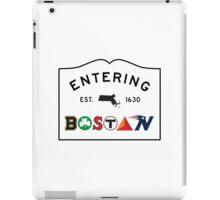 Entering Boston iPad Case/Skin