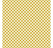 Primrose Yellow and White Classic Checkerboard Repeating Pattern Photographic Print