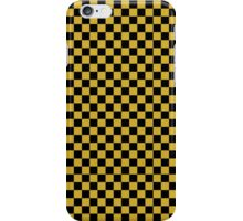 Primrose Yellow and Black Classic Checkerboard Repeating Pattern iPhone Case/Skin