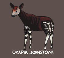Okapia Johnstoni (White Lettering) One Piece - Short Sleeve