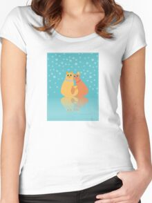 Winter Cats Women's Fitted Scoop T-Shirt