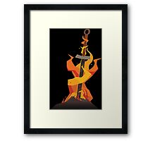 The Coiled Sword  Framed Print