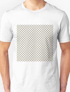 Pussy Willow and White Classic Checkerboard Repeating Pattern T-Shirt