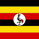 Uganda Flag Stickers by Mark Podger