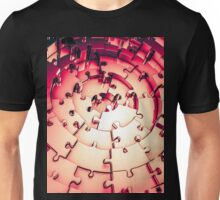 Metal Puzzle RETRO RED Unisex T-Shirt