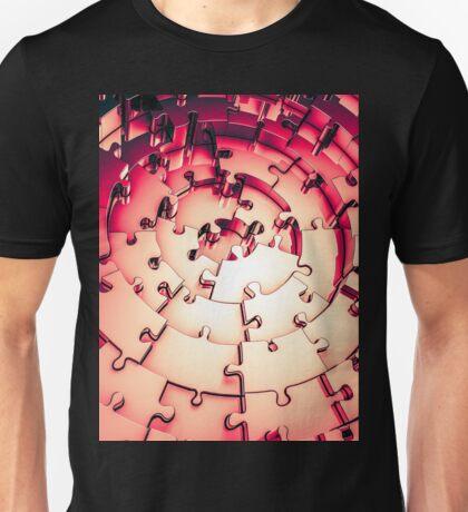 Metal Puzzle RETRO RED Unisex T-Shirt