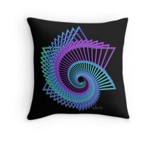 Abstract Star of David 517C Fractal Throw Pillow
