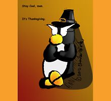 Penguin Card - Thanksgiving Unisex T-Shirt