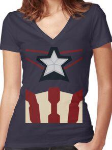 Captain of Avenging Women's Fitted V-Neck T-Shirt