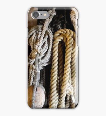 Ropes and other stuff on the Batavia, Lelystad The Netherlands iPhone Case/Skin