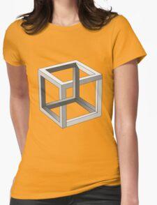 Mind blowing Escher's cube Womens Fitted T-Shirt