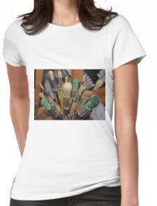 Which Brush? Womens Fitted T-Shirt