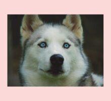 Look Into My Baby Blues!!! - Siberian Husky - NZ Kids Tee