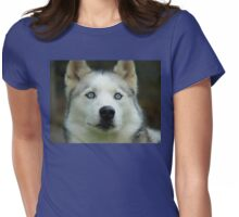 Look Into My Baby Blues!!! - Siberian Husky - NZ Womens Fitted T-Shirt