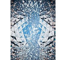 Blue sky in crystals Photographic Print