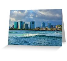 Honolulu Turquoise - Impressions of Hawaii Greeting Card