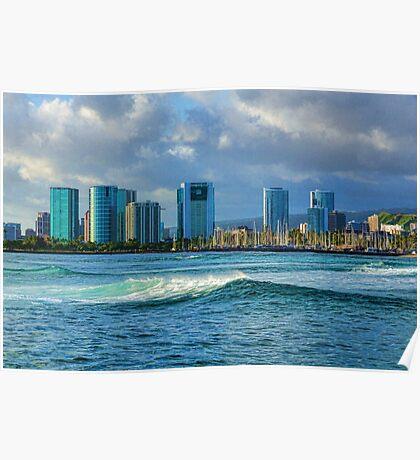 Honolulu Turquoise - Impressions of Hawaii Poster