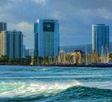 Honolulu Turquoise - Impressions of Hawaii Sticker