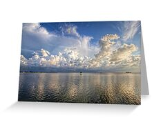 Coastal Clouds   Greeting Card