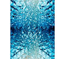 Blue water in crystals Photographic Print