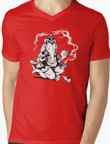 Nerdy Ganesha Mens V-Neck T-Shirt