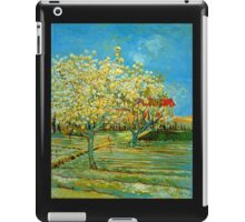 'Orchard' by Vincent Van Gogh (Reproduction) iPad Case/Skin