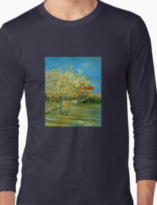 'Orchard' by Vincent Van Gogh (Reproduction) Long Sleeve T-Shirt