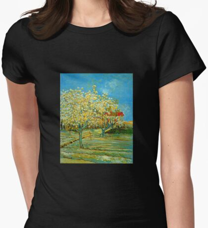'Orchard' by Vincent Van Gogh (Reproduction) Womens Fitted T-Shirt
