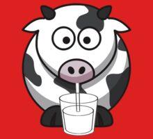Cow Drinking Milk Baby Tee