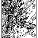 Wild Bird - Bird of Paradise, Ink Drawing by Danielle Scott