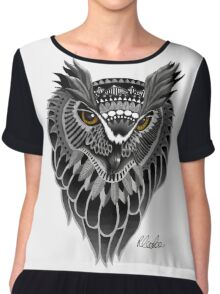 Tribal Owl Chiffon Top
