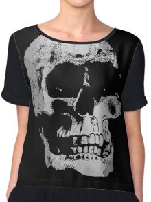 Grunge Cool Skull Chiffon Top