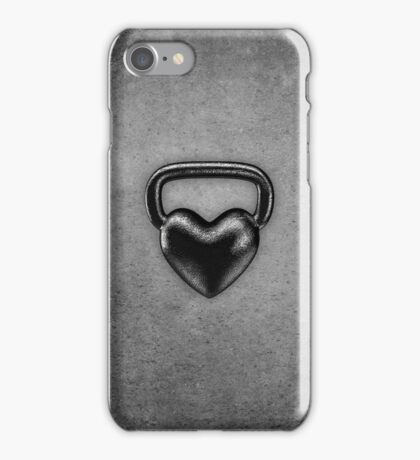 Kettlebell heart iPhone Case/Skin